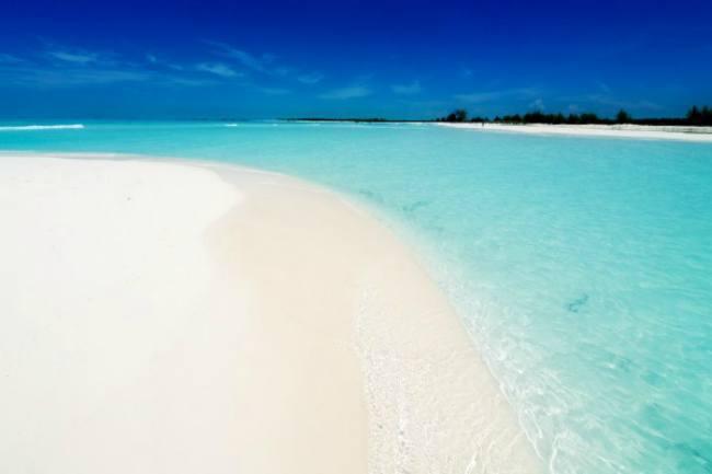 Ein paradiesischer Strand auf Kuba.