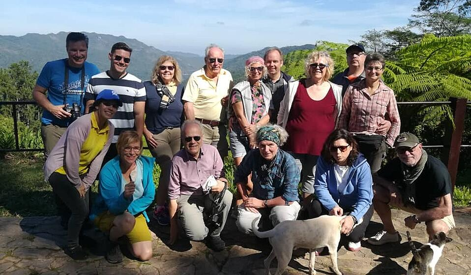 Reisegruppe im Nationalpark Escambray